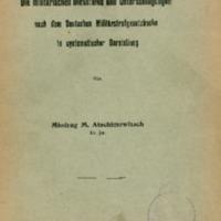 Die militärischen Diebstähle und Unterschlagungen nach dem Deutschen Militärstrafgesetzbuche in systematischer Darstellung